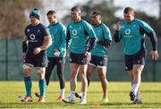 7 February 2019; Ireland players, from left, Sean O'Brien, Jonathan Sexton, Rob Kearney, Bundee Aki, and Jack McGrath during rugby squad training at Carton House in Maynooth, Co. Kildare. Photo by Brendan Moran/Sportsfile