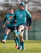 7 February 2019; Jack Conan during Ireland Rugby squad training at Carton House in Maynooth, Co. Kildare. Photo by Brendan Moran/Sportsfile