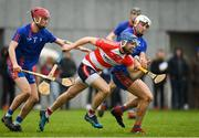 7 February 2019; Daragh Fanning of Cork IT in action against Aaron Gillane of Mary Immaculate College during the Electric Ireland Fitzgibbon Cup Quarter Final match between Mary Immaculate College and Cork Institute of Technology at the MICL Grounds in Limerick. Photo by Eóin Noonan/Sportsfile