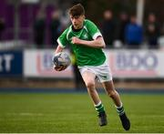 7 February 2019; David Colbert of Gonzaga College during the Bank of Ireland Leinster Schools Junior Cup Round 1 match between Gonzaga College and Kilkenny College at Energia Park in Donnybrook, Dublin. Photo by Harry Murphy/Sportsfile