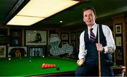 7 February 2019; Definitely not snookered! HireUp set to take on the world.The employee referral company was officially launched by snooker legends Ken Doherty, pictured, and Jimmy White at the Radisson Blu St. Helen's Hotel in Booterstown, Dublin. Photo by Sam Barnes/Sportsfile