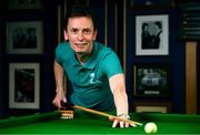7 February 2019; Definitely not snookered! HireUp set to take on the world. The employee referral company was officially launched by snooker legends Ken Doherty, pictured, and Jimmy White at the Radisson Blu St. Helen's Hotel in Booterstown, Dublin. Photo by Sam Barnes/Sportsfile