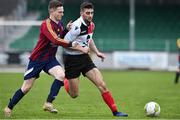 6 February 2019; Liam Cronin of UCC in action against Ian Fletcher of UL during the RUSTLERS IUFU Collingwood Cup Final match between University of Limerick and University College Cork at Markets Field in Limerick. Photo by Matt Browne/Sportsfile