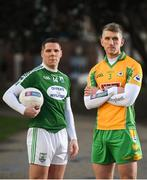 8 Febrary 2019; Kieran Fitzgerald, former Galway and current Corofin footballer, right, and Kevin Cassidy, former Donegal and current Gaobh Dobhair footballer ahead of their AIB GAA All-Ireland Senior Football Club Championship Semi-Final taking place at Páirc Seán Mac Diarmada in Leitrim on Saturday, February 16th. Having extended their sponsorship of both Club and County for another five years in 2018, AIB is pleased to continue its sponsorship of the GAA Club Championships for a 29th consecutive year. For exclusive content and behind the scenes action throughout the AIB GAA & Camogie Club Championships follow AIB GAA on Facebook, Twitter, Instagram and Snapchat. Photo by David Fitzgerald/Sportsfile