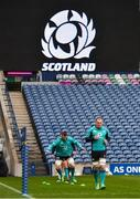 8 February 2019; Peter O'Mahony, left, and Rhys Ruddock during the Ireland Rugby Captain's Run at BT Murrayfield Stadium in Edinburgh, Scotland. Photo by Brendan Moran/Sportsfile