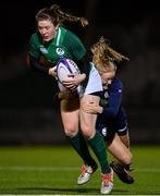 8 February 2019; Lauren Delany of Ireland is tackled by Chloe Rollie of Scotland during the Women's Six Nations Rugby Championship match between Scotland and Ireland at Scotstoun Stadium in Glasgow, Scotland. Photo by Ramsey Cardy/Sportsfile