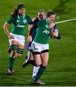 8 February 2019; Lauren Delany of Ireland is tackled by Jodie Rettie of Scotland during the Women's Six Nations Rugby Championship match between Scotland and Ireland at Scotstoun Stadium in Glasgow, Scotland. Photo by Ramsey Cardy/Sportsfile