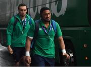 9 February 2019; Bundee Aki of Ireland arrives prior to the Guinness Six Nations Rugby Championship match between Scotland and Ireland at the BT Murrayfield Stadium in Edinburgh, Scotland. Photo by Brendan Moran/Sportsfile