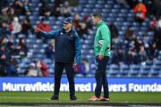 9 February 2019; Ireland head coach Joe Schmidt and Jonathan Sexton of Ireland prior to the Guinness Six Nations Rugby Championship match between Scotland and Ireland at the BT Murrayfield Stadium in Edinburgh, Scotland. Photo by Brendan Moran/Sportsfile