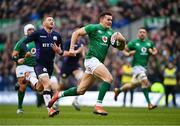 9 February 2019; Jacob Stockdale of Ireland on his way to scoring his side's second try during the Guinness Six Nations Rugby Championship match between Scotland and Ireland at the BT Murrayfield Stadium in Edinburgh, Scotland. Photo by Ramsey Cardy/Sportsfile