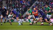 9 February 2019; Jacob Stockdale of Ireland makes a break on his way to scoring his side's second try during the Guinness Six Nations Rugby Championship match between Scotland and Ireland at the BT Murrayfield Stadium in Edinburgh, Scotland. Photo by Brendan Moran/Sportsfile