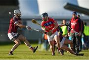 9 February 2019; Bernard Burke of St Thomas' in action against Neil McManus of Ruairí Óg during the AIB GAA Hurling All-Ireland Senior Championship Semi-Final match between St Thomas' and Ruairí Óg at Parnell Park in Dublin. Photo by David Fitzgerald/Sportsfile
