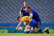 9 February 2019; Ciarán Kennedy of Beaufort in action against Noel McGuire of Easkey during the AIB GAA Football All-Ireland Junior Championship Final match between Beaufort and Easkey at Croke Park in Dublin. Photo by Piaras Ó Mídheach/Sportsfile