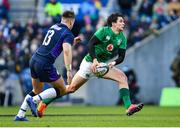 9 February 2019; Joey Carbery of Ireland in action against Huw Jones of Scotland during the Guinness Six Nations Rugby Championship match between Scotland and Ireland at the BT Murrayfield Stadium in Edinburgh, Scotland. Photo by Ramsey Cardy/Sportsfile