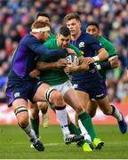 9 February 2019; Rob Kearney of Ireland is tackled by Rob Harley of Scotland during the Guinness Six Nations Rugby Championship match between Scotland and Ireland at the BT Murrayfield Stadium in Edinburgh, Scotland. Photo by Ramsey Cardy/Sportsfile