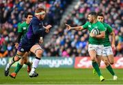 9 February 2019; Rob Kearney of Ireland in action against Rob Harley of Scotland during the Guinness Six Nations Rugby Championship match between Scotland and Ireland at the BT Murrayfield Stadium in Edinburgh, Scotland. Photo by Ramsey Cardy/Sportsfile