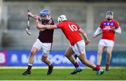 9 February 2019; Paddy McGill of Ruairí Óg in action against Darragh Burke of St Thomas' during the AIB GAA Hurling All-Ireland Senior Championship Semi-Final match between St Thomas' and Ruairí Óg at Parnell Park in Dublin. Photo by David Fitzgerald/Sportsfile