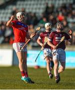 9 February 2019; Darragh Burke of St Thomas' celebrates after scoring a point during the AIB GAA Hurling All-Ireland Senior Championship Semi-Final match between St Thomas' and Ruairí Óg at Parnell Park in Dublin. Photo by David Fitzgerald/Sportsfile