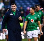9 February 2019; Jacob Stockdale, left, and Jordan Larmour of Ireland following the Guinness Six Nations Rugby Championship match between Scotland and Ireland at the BT Murrayfield Stadium in Edinburgh, Scotland. Photo by Ramsey Cardy/Sportsfile
