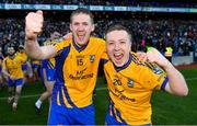 9 February 2019; Beaufort players, Ronan Ferris, left, and Danny Healy celebrate after the AIB GAA Football All-Ireland Junior Championship Final match between Beaufort and Easkey at Croke Park in Dublin. Photo by Piaras Ó Mídheach/Sportsfile