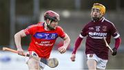 9 February 2019; Cathal Burke of St Thomas' in action against Alex Delargy of Ruairí Óg during the AIB GAA Hurling All-Ireland Senior Championship Semi-Final match between St Thomas' and Ruairí Óg at Parnell Park in Dublin. Photo by David Fitzgerald/Sportsfile