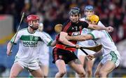 9 February 2019; Harley Barnes of Ballygunner in action against Adrian Mullen and Colin Fennelly of Ballyhale Shamrocks during the AIB GAA Hurling All-Ireland Senior Championship semi-final match between Ballyhale Shamrocks and Ballygunner at Semple Stadium in Thurles, Tipperary. Photo by Matt Browne/Sportsfile