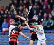 9 February 2019; Harley Barnes, left, and Eddie Hayden of Ballygunner in action against Adrian Mullen, left, and Evan Shefflin of Ballyhale Shamrocks during the AIB GAA Hurling All-Ireland Senior Championship semi-final match between Ballyhale Shamrocks and Ballygunner at Semple Stadium in Thurles, Tipperary. Photo by Matt Browne/Sportsfile