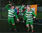 9 February 2019; Dublin players celebrate after winning the Confederation of Republic of Ireland Supporters Clubs Cup at Leah Victoria Park in Tullamore Town FC, Offaly. Photo by Eóin Noonan/Sportsfile