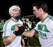9 February 2019; TJ Reid, left, and Colin Fennelly of Ballyhale Shamrocks after the AIB GAA Hurling All-Ireland Senior Championship semi-final match between Ballyhale Shamrocks and Ballygunner at Semple Stadium in Thurles, Tipperary. Photo by Matt Browne/Sportsfile