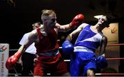 9 February 2019; Michael McGrane, left, in action against Luke Maguire in their 69kg bout during the 2019 National Elite Men's & Women's Elite Boxing Championships at the National Stadium in Dublin. Photo by David Fitzgerald/Sportsfile