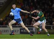 9 February 2019; Darren Gavin of Dublin in action against Sean O'Shea of Kerry during the Allianz Football League Division 1 Round 3 match between Kerry and Dublin at Austin Stack Park in Tralee, Kerry. Photo by Diarmuid Greene/Sportsfile