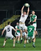 9 February 2019; Aaron Masterson of Kildare in action against Ryan Jones of Fermanagh during the Allianz Football League Division 2 Round 3 match between Fermanagh and Kildare at Brewster Park in Enniskillen, Fermanagh. Photo by Oliver McVeigh/Sportsfile