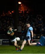9 February 2019; Cormac Costello of Dublin in action against Peter Crowley of Kerry during the Allianz Football League Division 1 Round 3 match between Kerry and Dublin at Austin Stack Park in Tralee, Co. Kerry. Photo by Diarmuid Greene/Sportsfile