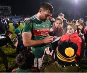 9 February 2019; Aidan O'Shea of Mayo signs a programme for a supporter following the Allianz Football League Division 1 Round 3 match between Mayo and Cavan at Elverys MacHale Park in Castlebar, Mayo. Photo by Seb Daly/Sportsfile