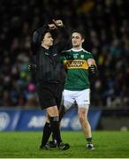 9 February 2019; Referee Maurice Deegan with Stephen O'Brien of Kerry during the Allianz Football League Division 1 Round 3 match between Kerry and Dublin at Austin Stack Park in Tralee, Co. Kerry. Photo by Diarmuid Greene/Sportsfile