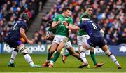9 February 2019; Jacob Stockdale of Ireland gets in the way of team-mate Bundee Aki during the Guinness Six Nations Rugby Championship match between Scotland and Ireland at the BT Murrayfield Stadium in Edinburgh, Scotland. Photo by Brendan Moran/Sportsfile