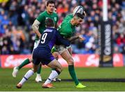 9 February 2019; Rob Kearney of Ireland is tackled by Greig Laidlaw of Scotland during the Guinness Six Nations Rugby Championship match between Scotland and Ireland at the BT Murrayfield Stadium in Edinburgh, Scotland. Photo by Brendan Moran/Sportsfile