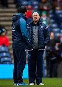 9 February 2019; Scotland head coach Gregor Townsend, right, in conversation with Ireland defence coach Andy Farrell ahead of the Guinness Six Nations Rugby Championship match between Scotland and Ireland at the BT Murrayfield Stadium in Edinburgh, Scotland. Photo by Ramsey Cardy/Sportsfile