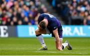 9 February 2019; Stuart Hogg of Scotland after picking up an injury during the Guinness Six Nations Rugby Championship match between Scotland and Ireland at the BT Murrayfield Stadium in Edinburgh, Scotland. Photo by Ramsey Cardy/Sportsfile
