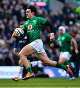 9 February 2019; Joey Carbery of Ireland during the Guinness Six Nations Rugby Championship match between Scotland and Ireland at the BT Murrayfield Stadium in Edinburgh, Scotland. Photo by Ramsey Cardy/Sportsfile