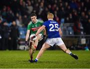 9 February 2019; Fionn McDonagh of Mayo in action against Cian Mackey of Cavan during the Allianz Football League Division 1 Round 3 match between Mayo and Cavan at Elverys MacHale Park in Castlebar, Mayo. Photo by Seb Daly/Sportsfile