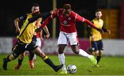 9 February 2019; Romeo Parkes of Sligo Rovers in action against Aodh Dervin of Longford Town during the Pre-Season Friendly match between Longford Town and Sligo Rovers at City Calling Stadium in Longford. Photo by Sam Barnes/Sportsfile
