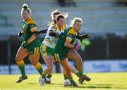 10 February 2019; Kelsey Nesbitt of Meath in action against Fiona Stephens of Offaly during the Lidl Ladies Football National League Division 3 Round 2 match between Meath and Offaly at Páirc Tailteann in Navan, Meath. Photo by Eóin Noonan/Sportsfile