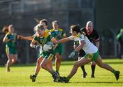 10 February 2019; Stacey Grimes of Meath in action against Katie Kehoe of Offaly during the Lidl Ladies Football National League Division 3 Round 2 match between Meath and Offaly at Páirc Tailteann in Navan, Meath. Photo by Eóin Noonan/Sportsfile