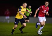 9 February 2019; Dean Zambra of Longford Town in action against Dean Byrne of Longford Town during the Pre-Season Friendly match between Longford Town and Sligo Rovers at City Calling Stadium in Longford. Photo by Sam Barnes/Sportsfile