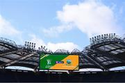 10 February 2019; A general view of the big screen before the AIB GAA Hurling All-Ireland Junior Championship Final match between Castleblayney and Dunnamaggin at Croke Park in Dublin. Photo by Piaras Ó Mídheach/Sportsfile