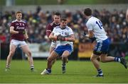 10 February 2019; Ryan Wylie of Monaghan in action against Padraig Cunningham of Galway during the Allianz Football League Division 1 Round 3 match between Monaghan and Galway at Inniskeen in Monaghan. Photo by Daire Brennan/Sportsfile