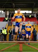 10 February 2019; Gary Brennan leads out the Clare team ahead of the Allianz Football League Division 2 Round 3 match between Clare and Cork at Cusack Park in Ennis, Clare. Photo by Sam Barnes/Sportsfile