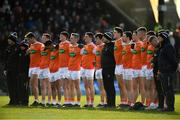 10 February 2019; Armagh players stand for the playing of Amhrán na bhFiann during the Allianz Football League Division 2 Round 3 match between Meath and Armagh at Páirc Tailteann in Navan, Meath. Photo by Eóin Noonan/Sportsfile