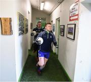 10 February 2019; Monaghan captain Colin Walshe leads his side out ahead of the Allianz Football League Division 1 Round 3 match between Monaghan and Galway at Inniskeen in Monaghan. Photo by Daire Brennan/Sportsfile